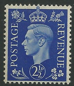 SG466 2½d Ultramarine Unmounted Mint (George VI 1937 Definitive Stamps)